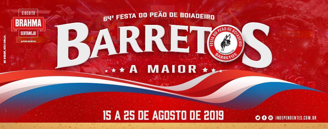 BARRETOS 2019 – SAIDAs 15 E 22 AGOSTO – A MAIOR FESTA COUNTRY DO BRASIL!